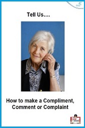 Tell Us Easy Read leaflet How to make a compliment comment or complaint
