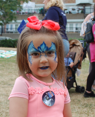 child having fun with facepaint