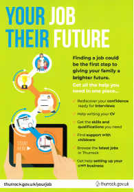 Help with finding a job go to thurrock.gov.uk