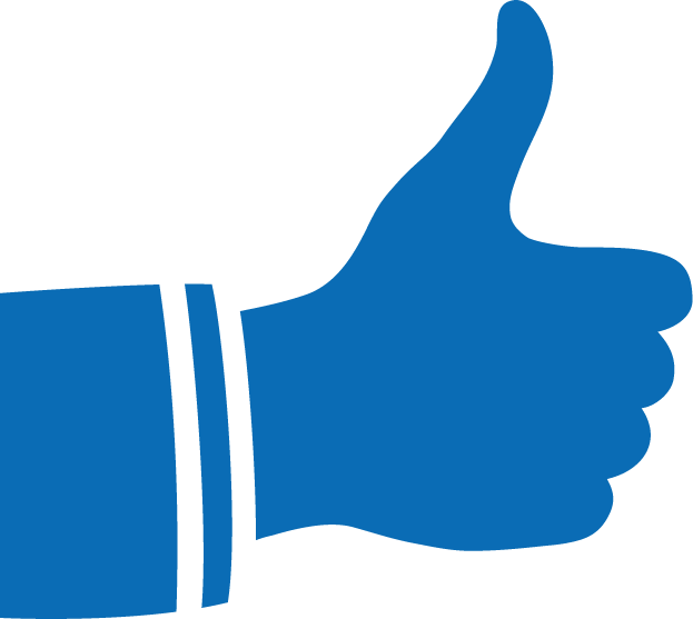Thumbs Up in Blue