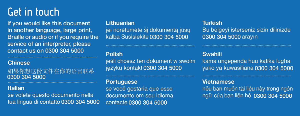 Translation Panel with 0300 number