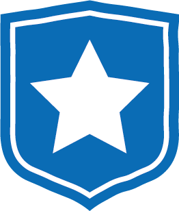 Mission Statement Icon - Blue shield with star