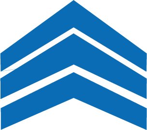 Values Chevrons in blue