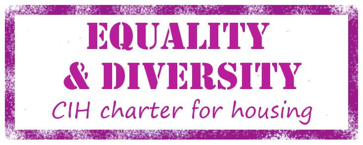 CIH Charter for Housing Equality and Diversity pink logo stamp