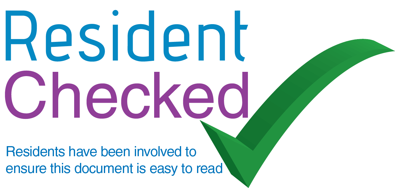 be part of the 'resident checked' approval stamp!
