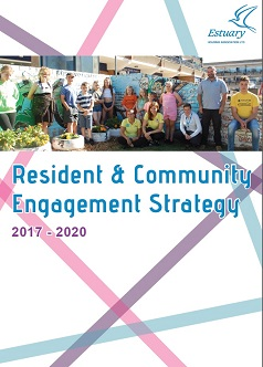 Image: Front cover of Resident and Community Engagement Strategy 2017 to 2020. Click to download and display the document.