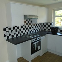 Photo of the new kitchen at Sandown Road