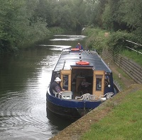 Picture of a canal boat from a resident day trip