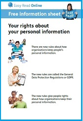 Link to ESAB Your rights about your personal information easy read guide