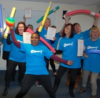 Staff enjoying an Oomph training session